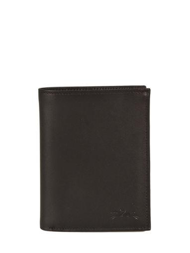 Longchamp Baxi cuir Wallet Black