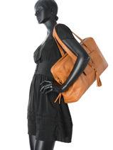 Shopper Kristin Leather Pieces Brown kristin 17081977-vue-porte