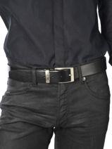 Belt Adjustable Petit prix cuir Black classic 2375T-vue-porte