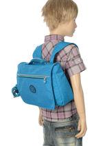 Satchel 1 Compartment Kipling Blue back to school 13571-vue-porte