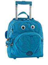 Wheeled Backpack 1 Compartment Kipling Blue back to school 15376