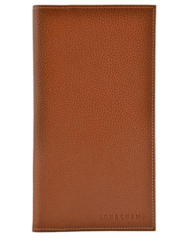 Longchamp Le foulonné Porte chéquier Marron