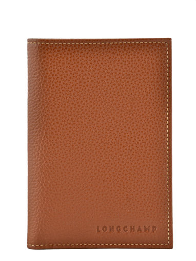 Longchamp Le foulonné Etui passeport Rouge