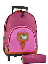 Wheeled Backpack With Matching Pencil Case Tann