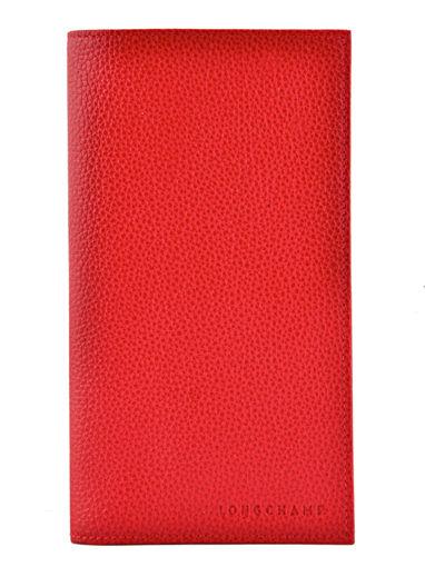 Longchamp Porte-chéquier Rouge