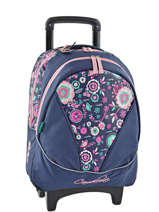 Wheeled Backpack 2 Compartments Cameleon Blue new basic NBA-BORR