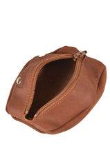Purse Leather Foures Brown 9229-vue-porte