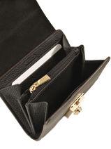 Wallet Leather Furla Black milano PEG-PS35-vue-porte