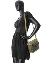Shoulder Bag Adele Leather Furla Green adele ADE-BKX2-vue-porte