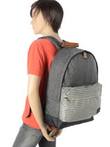 Sac A Dos 1 Compartiment Quiksilver Gris youth access + QYBP3409-vue-porte