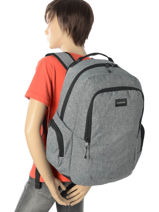 Backpack 2 Compartments + Free Pencil Case Quiksilver Gray youth access QYBP3418-vue-porte