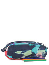 Trousse 2 Compartiments Roxy Multicolore back to school RJAA3326-vue-porte