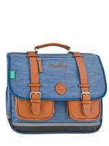 Satchel 3 Compartments Cameleon Blue vintage VINCA41