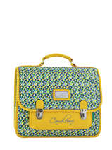 Satchel 2 Compartments Cameleon Yellow retro RET-CA35