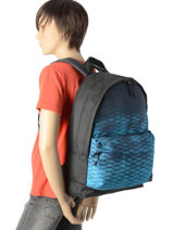 Sac A Dos 1 Compartiment Quiksilver Noir youth access QYBP3406-vue-porte