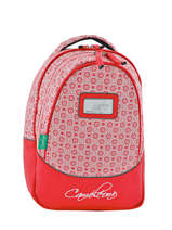 Backpack 2 Compartments Cameleon Red retro RET-PRI