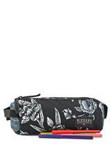 Trousse 2 Compartiments Rip curl Noir zephyr LUTFB4-vue-porte