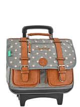 Wheeled Schoolbag 2 Compartments Cameleon Gray vintage VINCA38R