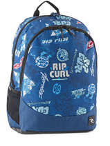 Backpack 2 Compartments Rip curl Blue heritage logo BBPIX4