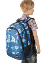 Backpack 2 Compartments Rip curl Blue heritage logo BBPIX4-vue-porte