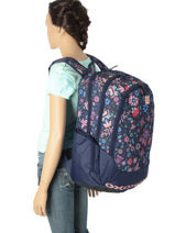 Backpack 3 Compartments Rip curl Blue mandala LBPJR4-vue-porte