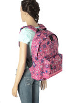 Backpack 1 Compartment Rip curl Red mandala LBPJV4-vue-porte