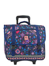 Wheeled Schoolbag 2 Compartments Rip curl Blue mandala LBPNE4