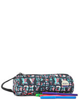 Trousse 1 Compartiment Roxy Multicolore back to school RJAA3325-vue-porte