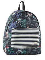 Backpack 1 Compartment Roxy Black back to school RJBP3538