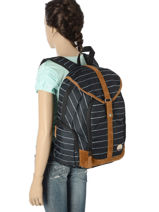 Backpack 1 Compartment Roxy Black back to school soul RJBP3539-vue-porte