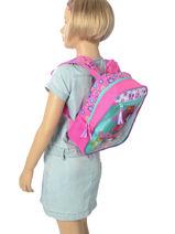 Backpack Mini Trolls Multicolor flower 48321-vue-porte