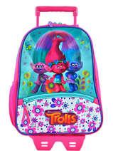 Wheeled Backpack Trolls Multicolor flower 48322M