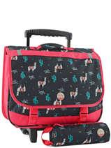 Wheeled Schoolbag With Free Pencil Case Roxy Black kid RLBP3023