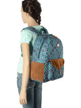 Sac à Dos 1 Compartiment Roxy Bleu back to school soul RJBP3537-vue-porte