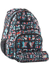 Backpack 2 Compartments With Free Pencil Case Roxy Gray back to school RJBP3594