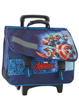 Cartable A Roulettes 2 Compartiments Avengers Bleu shield AVL13006