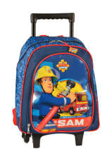 Wheeled Backpack Sam le pompier Blue sam 4386SAM2