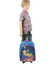 Wheeled Backpack Sam le pompier Blue sam 4386SAM2-vue-porte