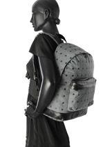 Backpack 1 Compartment Kaporal Black oula OLE-vue-porte