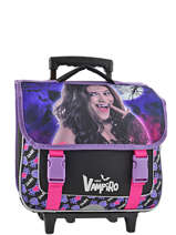 Cartable A Roulettes 2 Compartiments Chica vampiro Noir night CHISI18