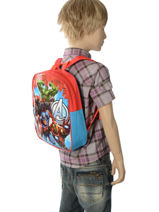 Backpack Mini Avengers Red basic AST0746-vue-porte