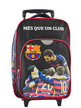 Wheeled Backpack 1 Compartment Fc barcelone Black 1899 173B204P