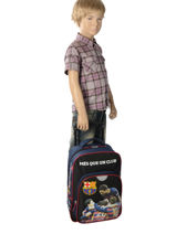 Wheeled Backpack 1 Compartment Fc barcelone Black 1899 173B204P-vue-porte