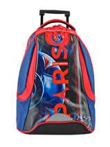 Wheeled Backpack 2 Compartments Paris st germain Multicolor paris 173P204R
