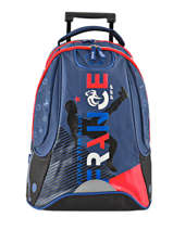 Sac A Dos A Roulettes 2 Compartiments Federat. france football Multicolore france 173F204R