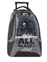 Sac A Dos A Roulettes 2 Compartiments All blacks Noir all black 173A204R