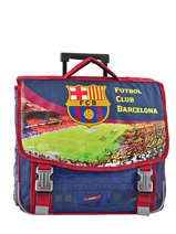 Wheeled Schoolbag 2 Compartments Fc barcelone Black 1899 173B203R