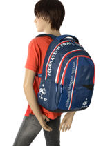 Backpack 3 Compartments Federat. france football Multicolor france 173F204B-vue-porte