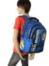 Sac A Dos 3 Compartiments Real madrid Blue rmcf 173R204B-vue-porte