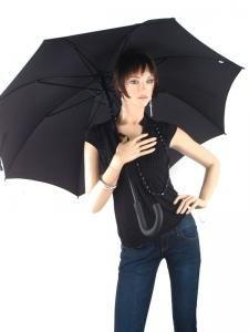 Umbrella Esprit Black gents long ac 50150-vue-porte